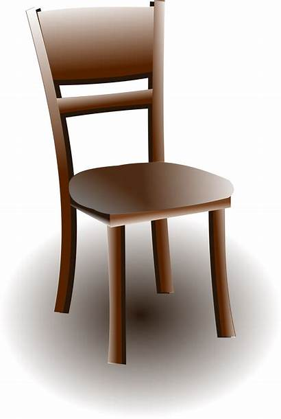 Chair Brown Clipart Wooden Wood Clip Empty