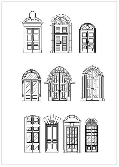 Ornamental Door & Window Bundle – CAD Design | Free CAD