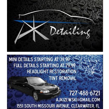 auto detailing business cards business cards pinterest