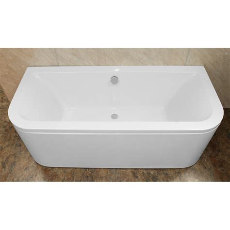 eden  shaped    double ended   wall bath