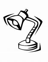 Lamp Clipart Colouring Oboe Cliparts Library Pages sketch template