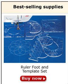 ruler foot and template set only ruler i seen for arm quilters that quilts in degrees on web