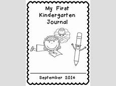 MY KINDERGARTEN JOURNAL FREEBIE COVER AND BLANK WRITING