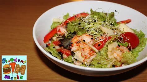 how to make shrimp salad how to make shrimp salad student mealz youtube