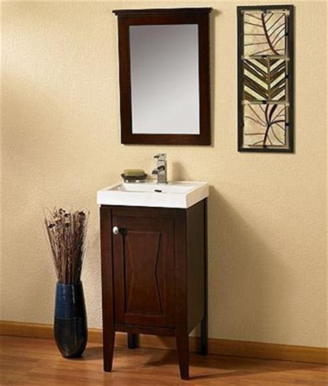 18 Inch Bathroom Vanity Combo by Fairmont Designs 18 Vanity Sink Mirror Combo 104 V18