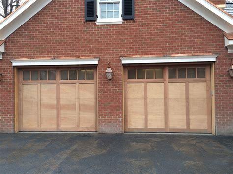 Garage Door Systems Inc by Mahogany Flush Garage Doors With Clear Cedar Trim Boards