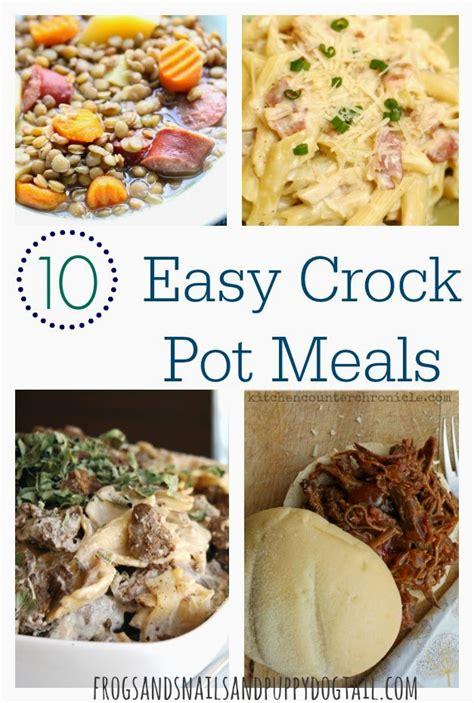 easy crock pot dishes 10 easy crock pot meals fspdt