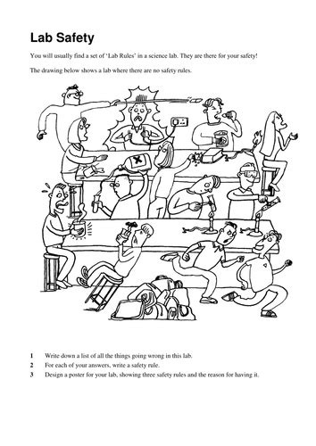 Lab Safety Worksheets By Katymayor  Teaching Resources Tes