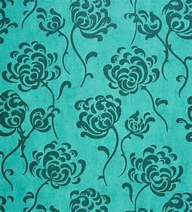 Papel pintado flores modernas verde oscuro fondo texturizado verde azulado 2010501