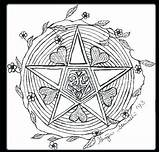 Wiccan Coloring Pages Wicca Pentagram Pagan Adults Drawing Samhain Colouring Goddess Printable Pentacle Symbols Drawings Books Sketch Sheets Getcolorings Getdrawings sketch template