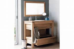 meuble de salle de bains en teck pour vasque a encastrer With tiroir pour meuble de salle de bain