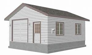 Plan g446 Custom 20 x 24 – 9′ Garage Blueprint Free