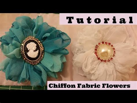 how to make shabby chic flowers out of fabric diy chiffon fabric flower diy shabby chic tutorial wedding flower how to make youtube