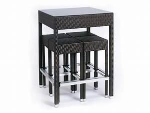 Table Haute Et Tabouret : ensemble alto table haute 4 tabourets 65815 ~ Teatrodelosmanantiales.com Idées de Décoration