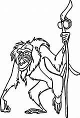 Coloring Baboon Character Wecoloringpage sketch template