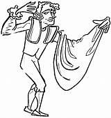 Matador Coloring Spain Bullfighter Drawings Torero Corrida sketch template