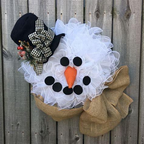 diy tutorials  ideas    snowman wreath