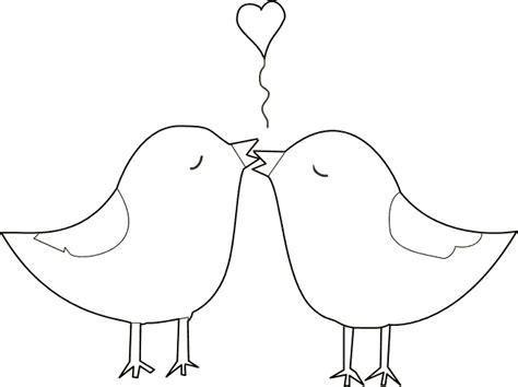 2 Vogels Kleurplaat by Kleurplaat Twee Verliefde Vogeltjes