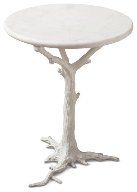 tree branch table l bijou global bazaar white tree branch iron marble round