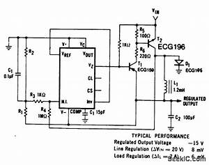 Negative Switching Regulator 15 Volts Using An Ecg915 Or