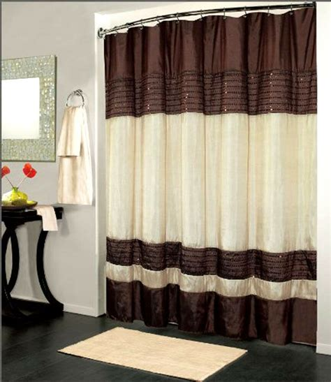 shower curtain drapes luxury fabric shower curtain sequin design brown 70x72