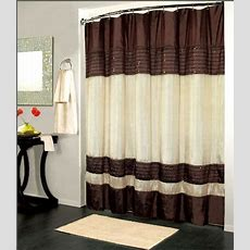 Luxury Fabric Shower Curtain Sequin Design Brown 70x72