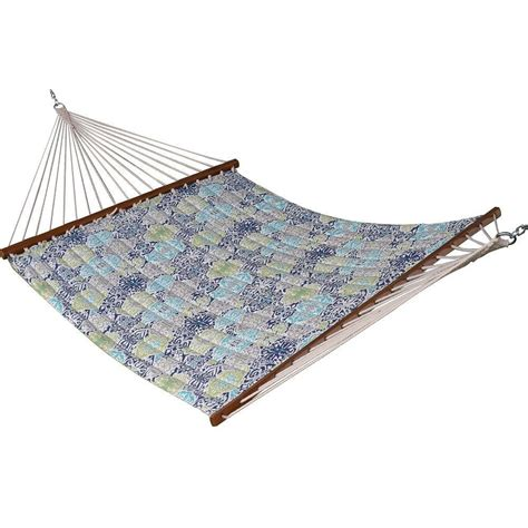 Polyester Hammock by Vivere 13 Ft Quilted Fabric Polyester Hammock In