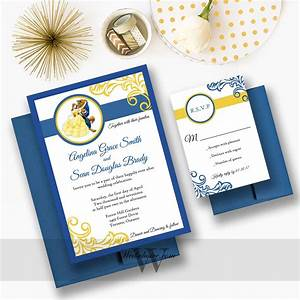 stunning beauty and the beast wedding invitations With diy beauty and the beast wedding invitations