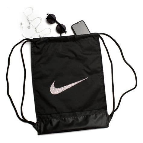 bling nike drawstring backpack women gym bag rucksack etsy  images womens backpack