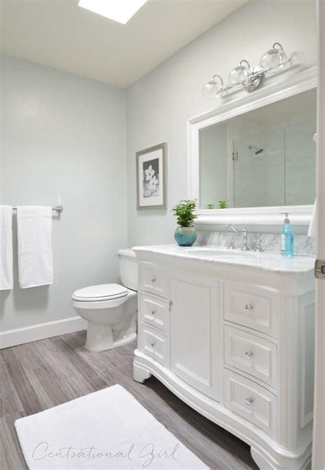 vinyl plank flooring vanity bathroom remodel complete centsational girl