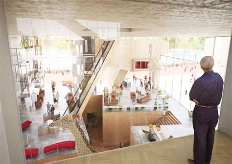 interior design culture proposal for the arta cultural center in arnhem by nl architects
