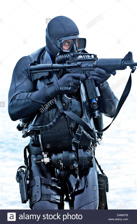 navy seal dive gear a member of a seal team practices water