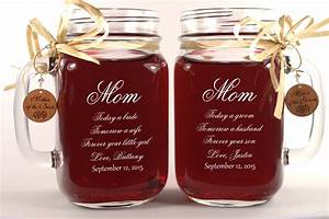 mom wedding gift mason jars mother of the groom gift mother With mom gifts for wedding