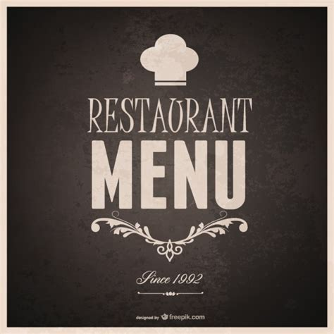 food menu template design vector