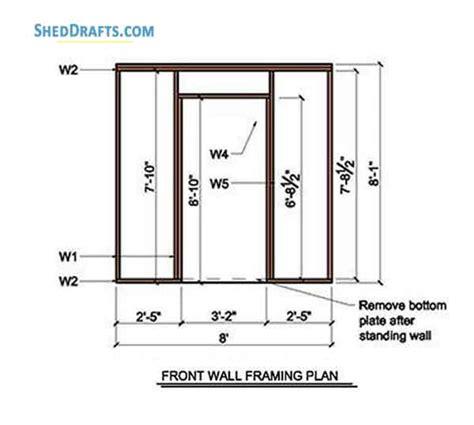 lean  storage shed plans blueprints  creating