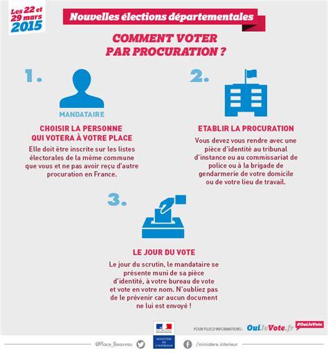 qui peut tenir un bureau de vote elections départementales 2 le vote par procuration