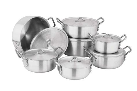 aluminum cookware pans aluminium pots anodized kitchenware utensils cooking steel copper kitchen stainless food cook into cast lanka sri above