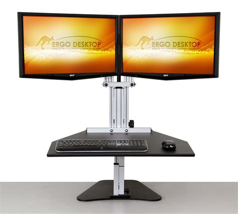 kangaroo standing desk kangaroo elite adjustable height desk ergo desktop