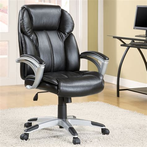 modern leather desk chair with black modern desk