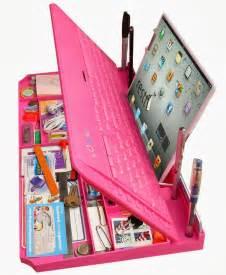 Pink Keyboard Desktop Organizer