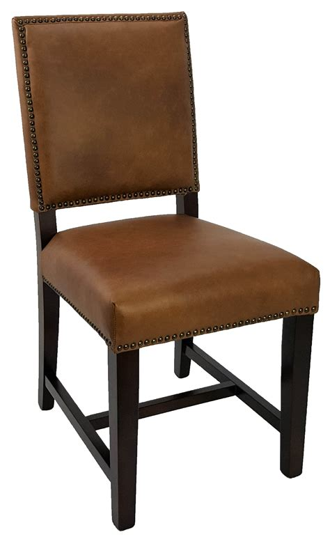 dining kitchen chairs top grain antique brown leather