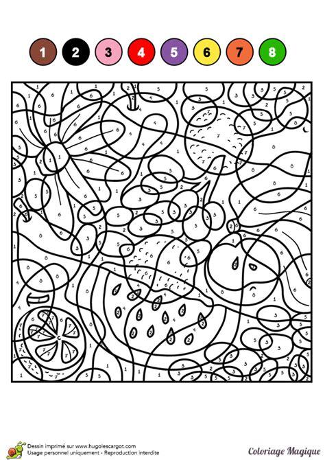 jeux de cuisine jungle dessin à colorier d un coloriage magique cm1 fruits en