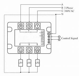 3 Phase 4 Wires Scr Power Controller  6  9  12  24kw