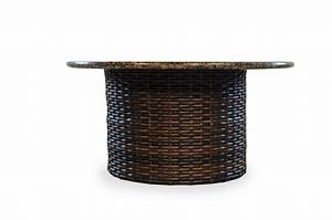 48quot Round Fire Table W Caramel Mosaic Top