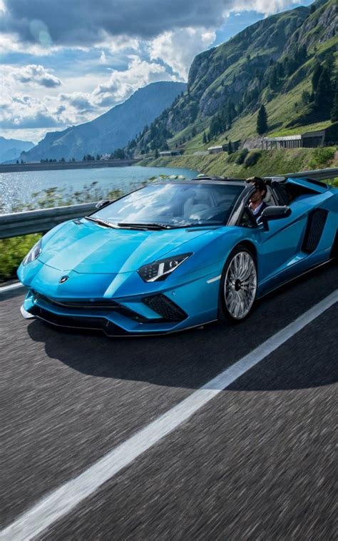 Blue Lamborghini Hd Wallpapers by Blue Lamborghini Aventador S Roadster Free