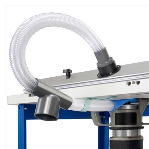 dustrouter router table dust collection system milescraft