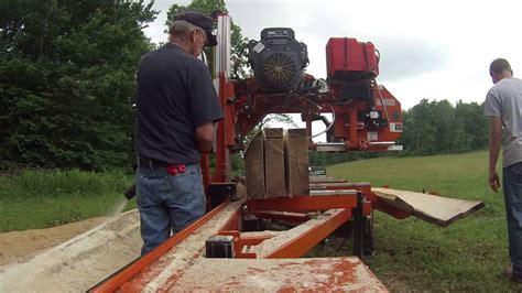 woodmizer lt  hydraulic portable sawmill youtube