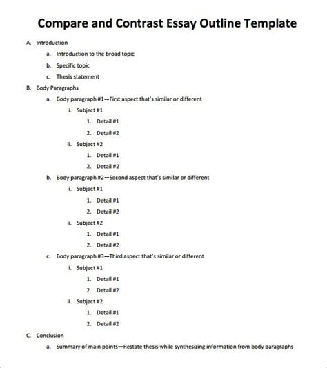 Outline Template Pin By K Biederman On School Learning Essay