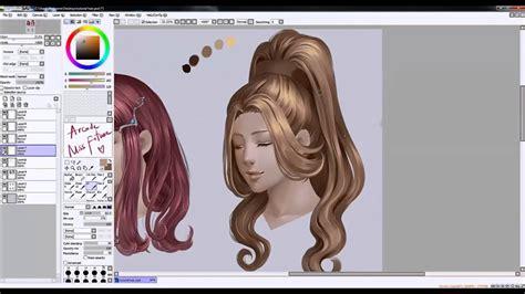 hair painting tutorial youtube
