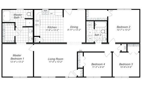 Bedroom Floor Ls by 4 Bedroom House Floor Plans Todoteenagels
